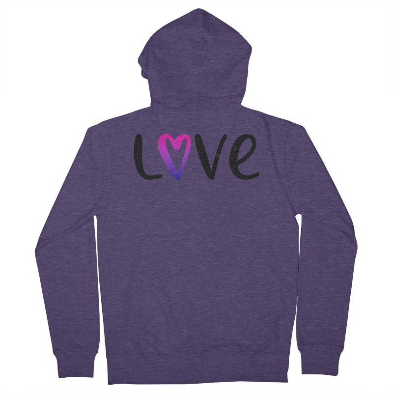 Love + Heart Men's French Terry Zip-Up Hoody by Prismheartstudio 's Artist Shop