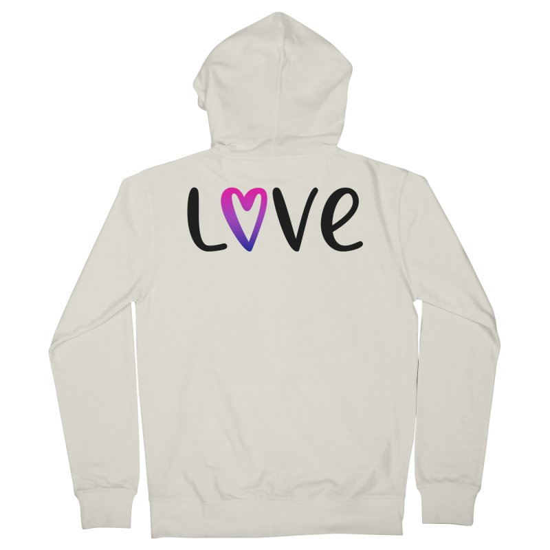Love + Heart Men's French Terry Zip-Up Hoody by Prismheartstudio 's Artist Shop