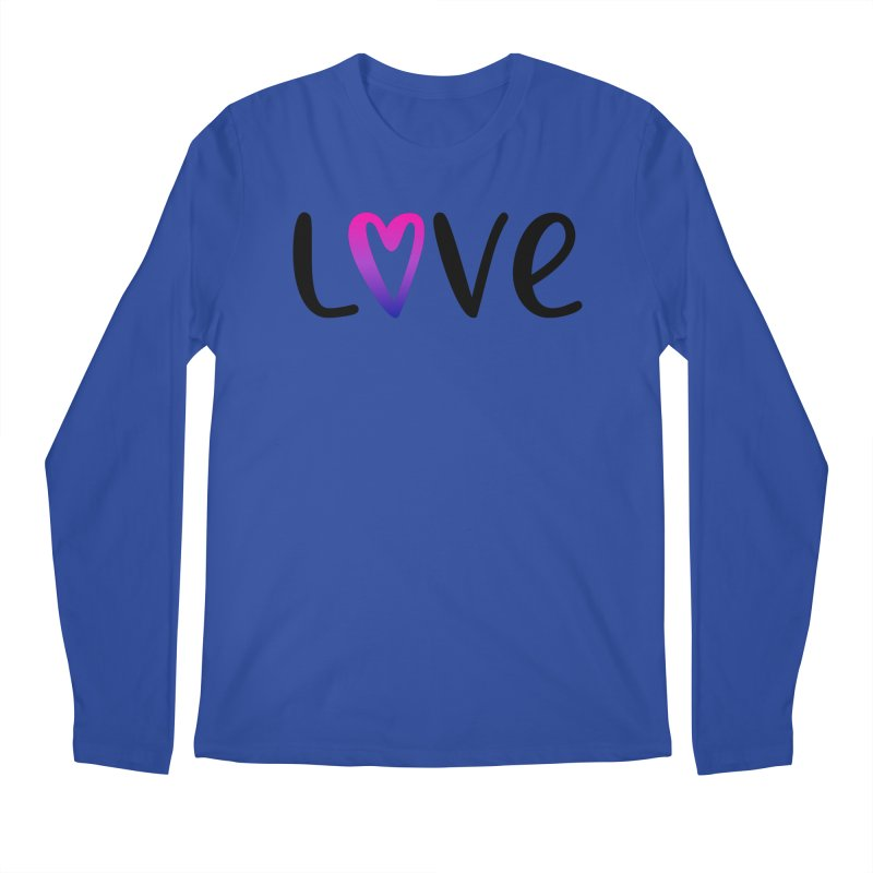 Love + Heart Men's Regular Longsleeve T-Shirt by Prismheartstudio 's Artist Shop