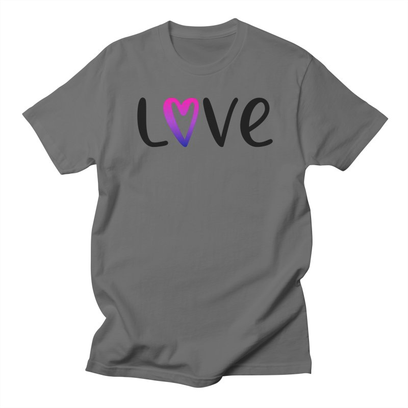 Love + Heart Men's T-Shirt by Prismheartstudio 's Artist Shop
