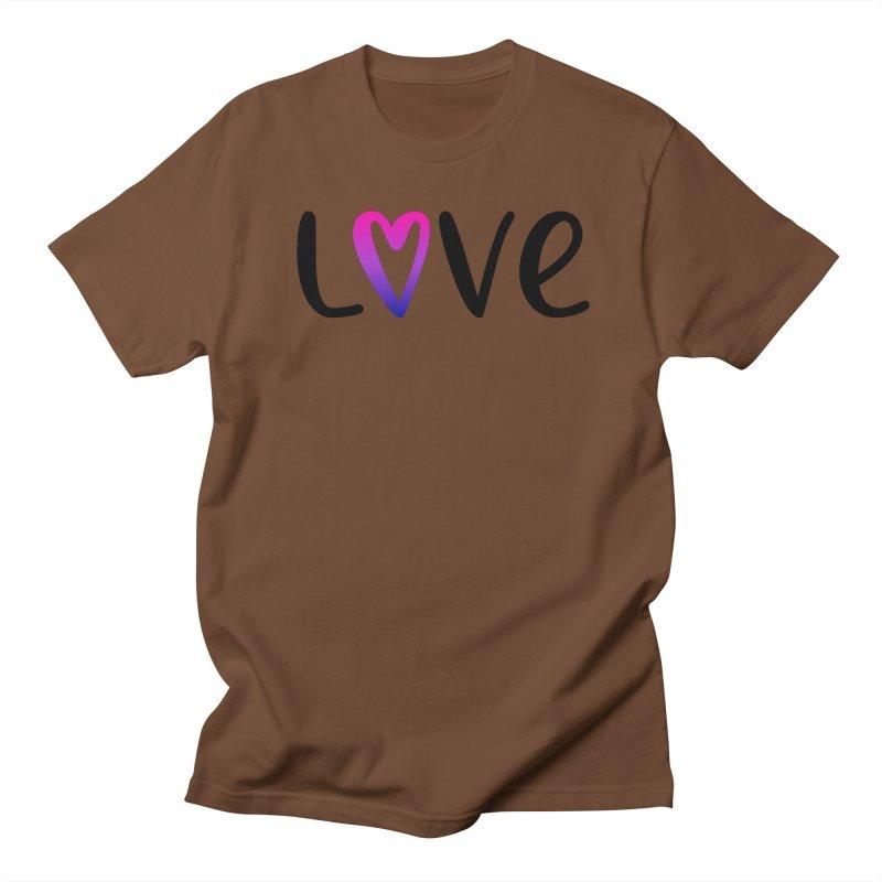 Love + Heart Women's Regular Unisex T-Shirt by Prismheartstudio 's Artist Shop
