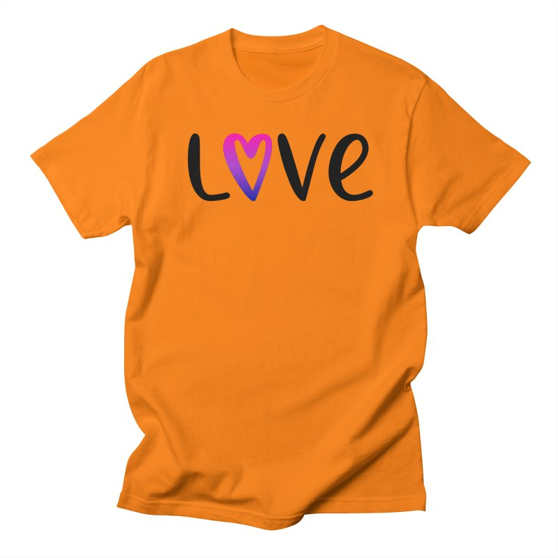 Love + Heart Men's Regular T-Shirt by Prismheartstudio 's Artist Shop