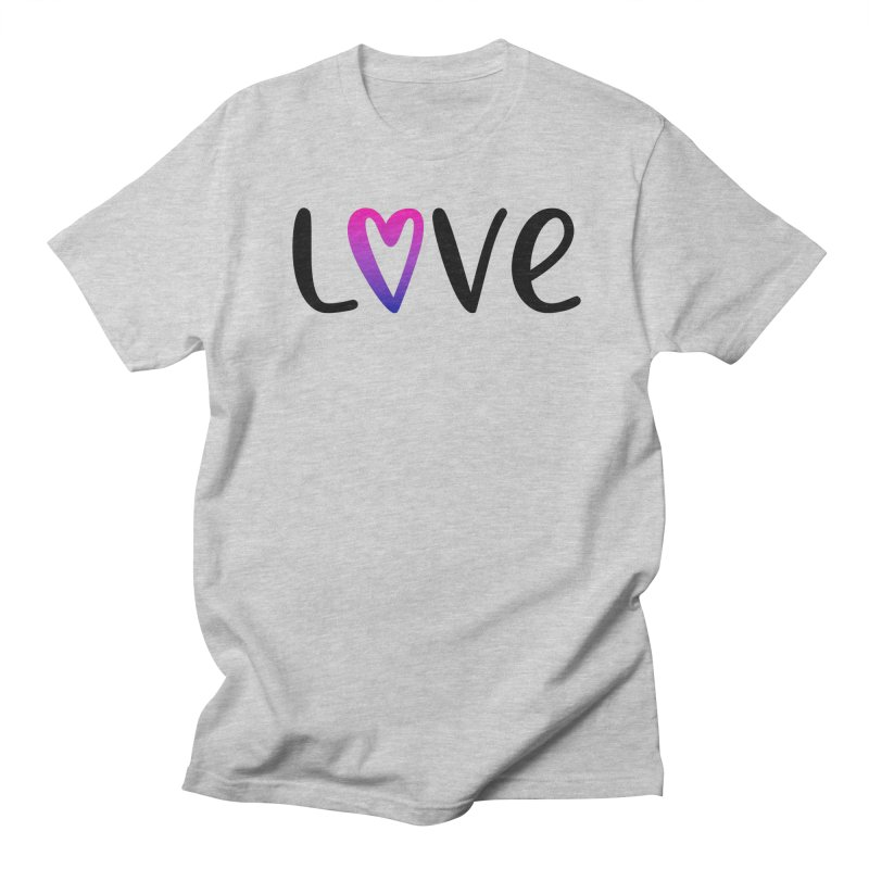 Love + Heart Men's Regular T-Shirt by Prismheartstudio 's Artist Shop