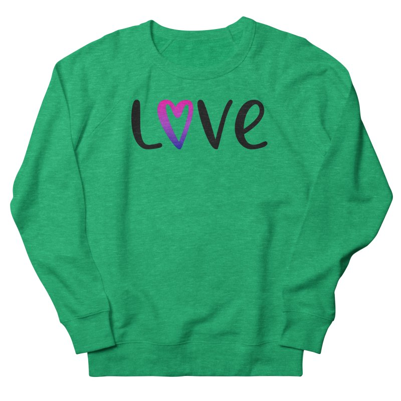 Love + Heart Men's French Terry Sweatshirt by Prismheartstudio 's Artist Shop
