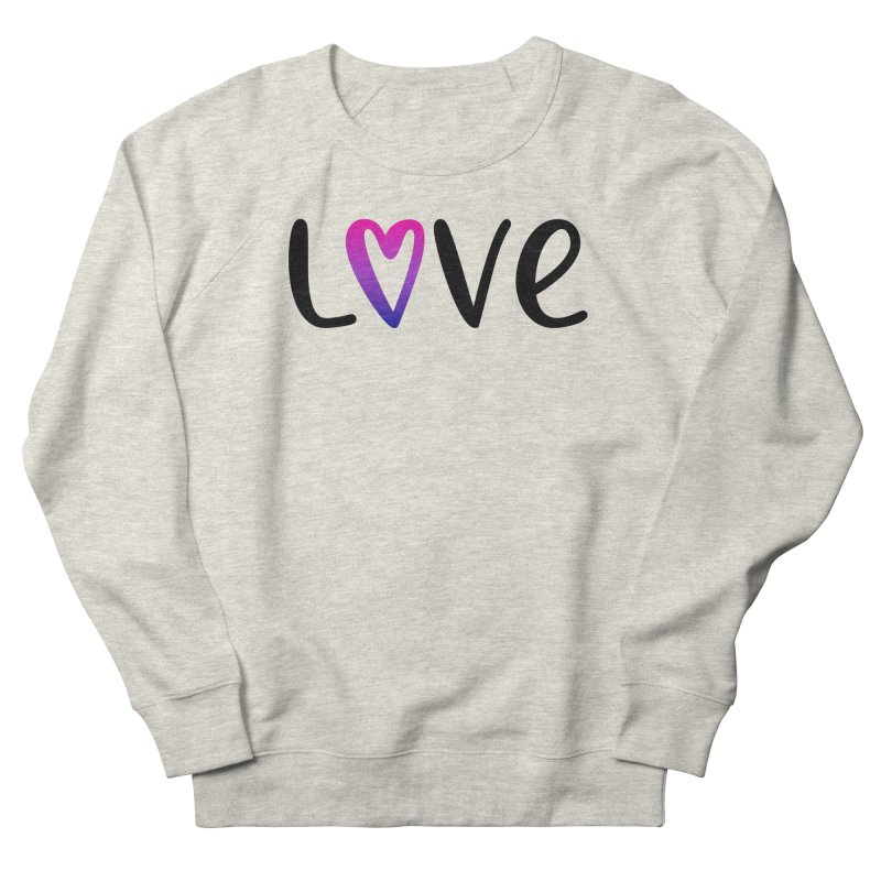 Love + Heart Men's French Terry Sweatshirt by Prismheartstudio 's Artist Shop