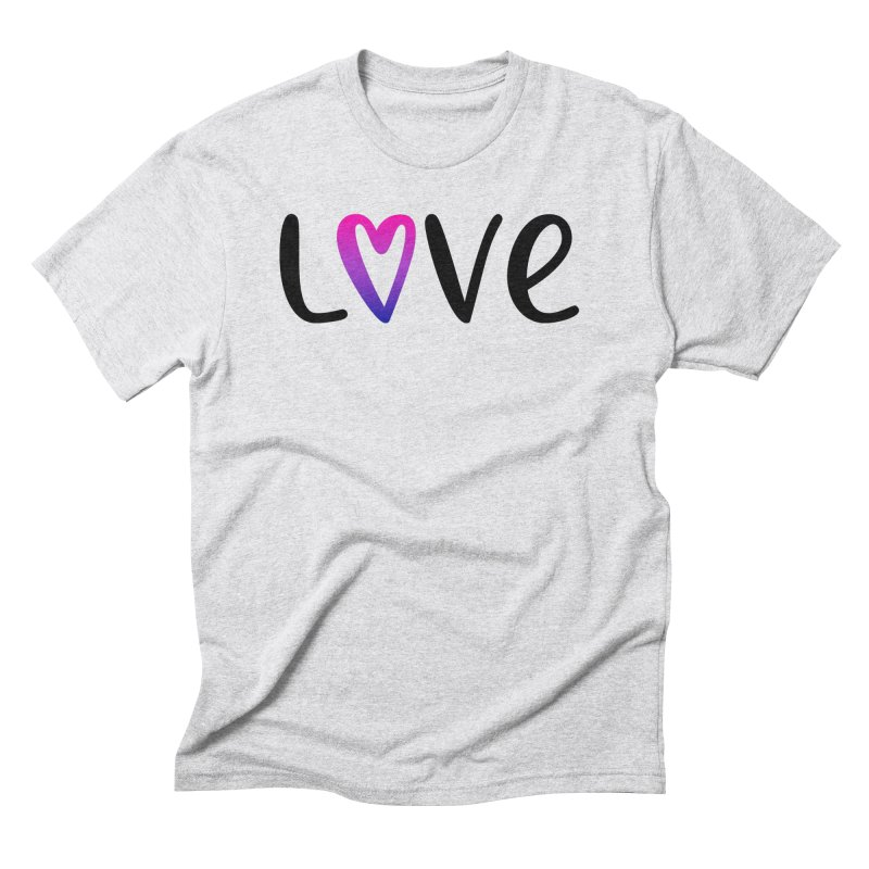 Love + Heart Men's Triblend T-Shirt by Prismheartstudio 's Artist Shop