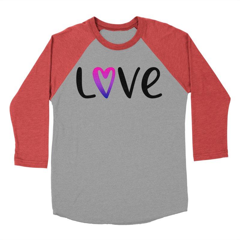 Love + Heart Women's Baseball Triblend Longsleeve T-Shirt by Prismheartstudio 's Artist Shop