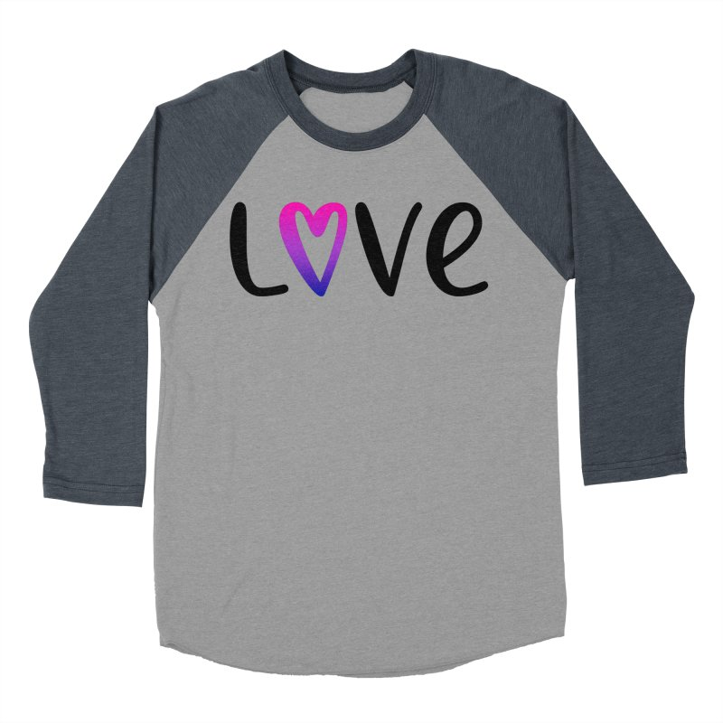 Love + Heart Women's Baseball Triblend Longsleeve T-Shirt by Prismheartstudio 's Artist Shop