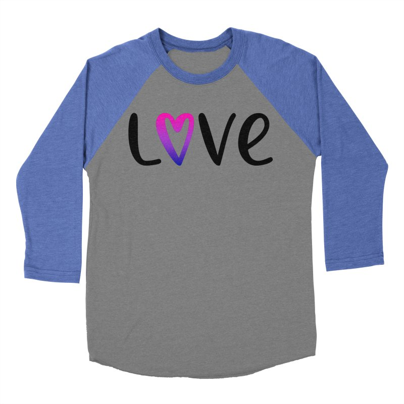Love + Heart Men's Baseball Triblend Longsleeve T-Shirt by Prismheartstudio 's Artist Shop