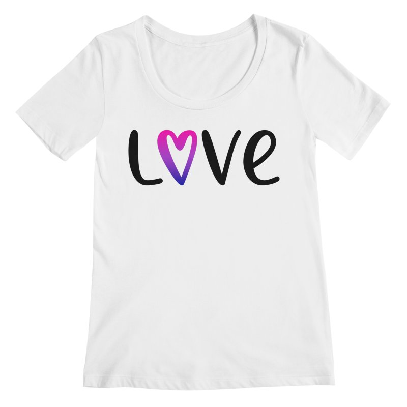 Love + Heart Women's Regular Scoop Neck by Prismheartstudio 's Artist Shop
