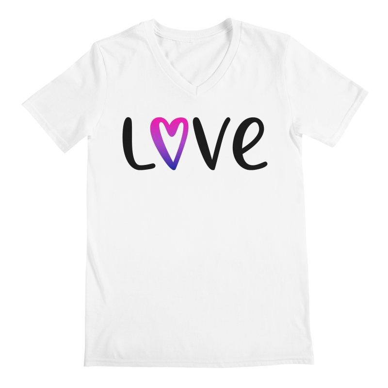 Love + Heart Men's V-Neck by Prismheartstudio 's Artist Shop
