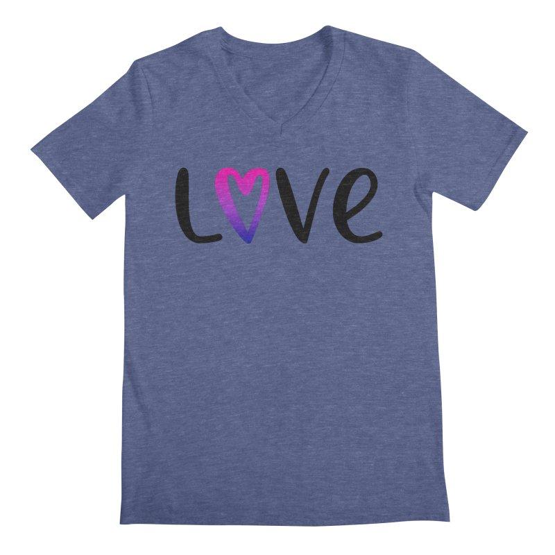 Love + Heart Men's Regular V-Neck by Prismheartstudio 's Artist Shop