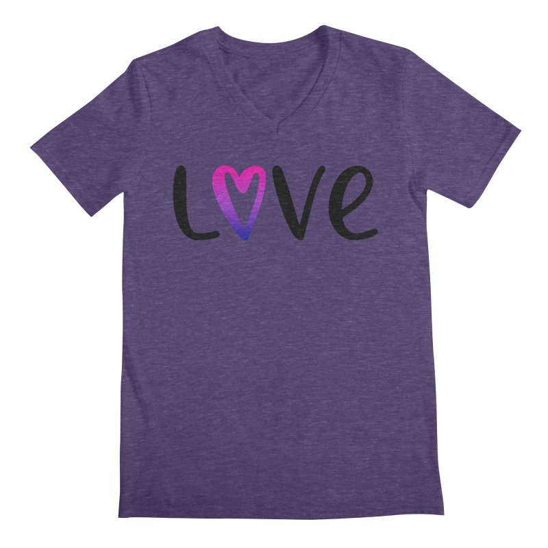 Love + Heart Men's Regular V-Neck by Prismheartstudio 's Artist Shop