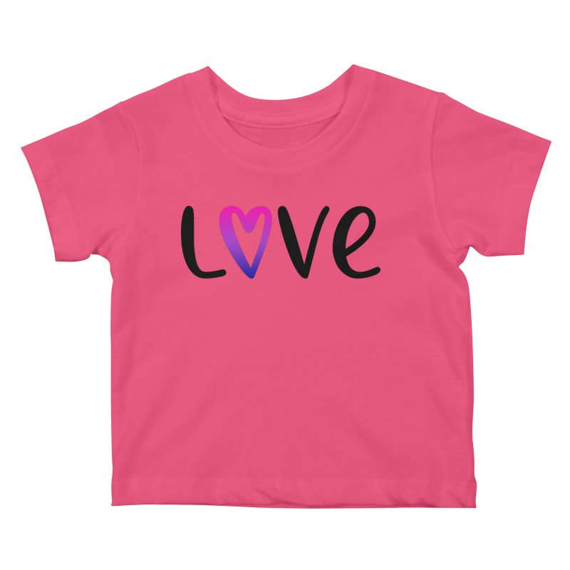 Love + Heart Kids Baby T-Shirt by Prismheartstudio 's Artist Shop