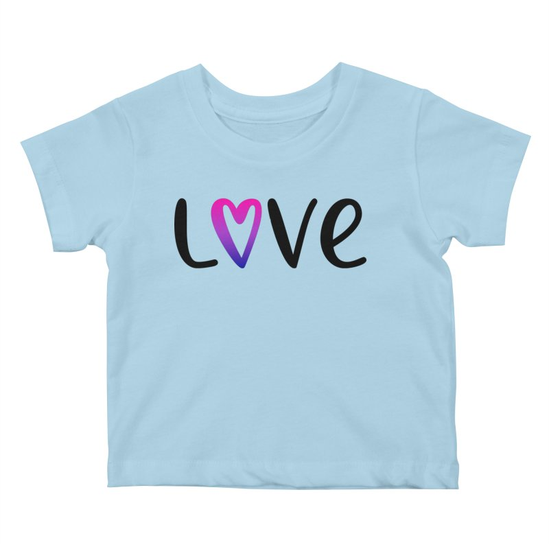 Love + Heart Kids Baby T-Shirt by Prismheartstudio 's Artist Shop