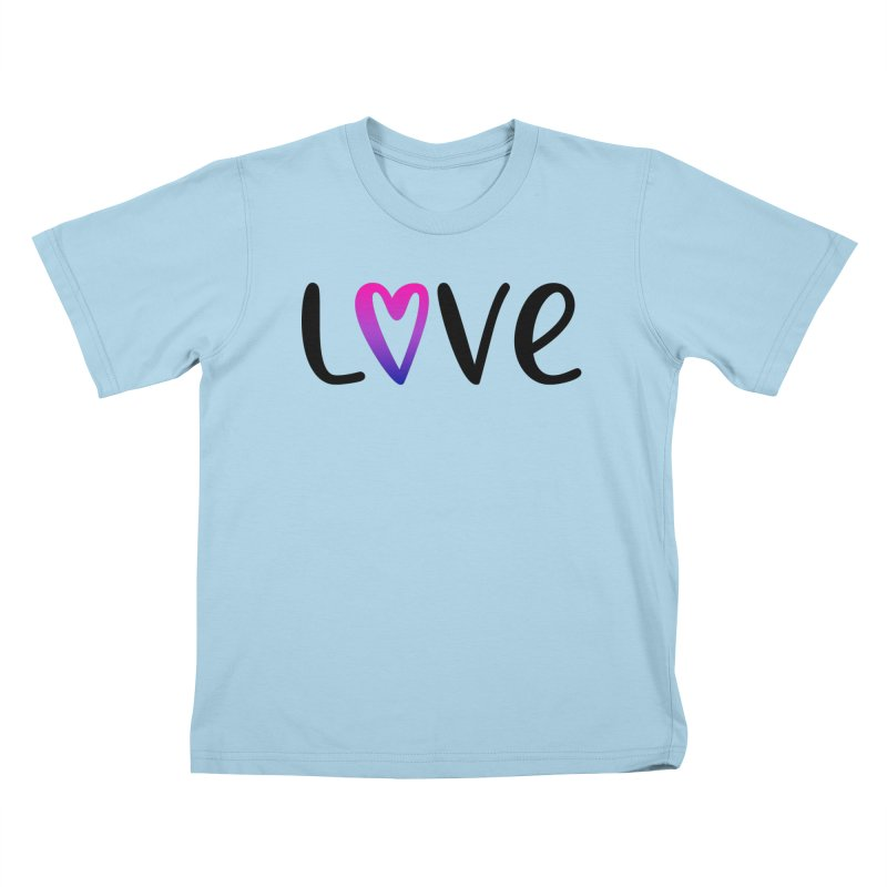 Love + Heart Kids T-Shirt by Prismheartstudio 's Artist Shop