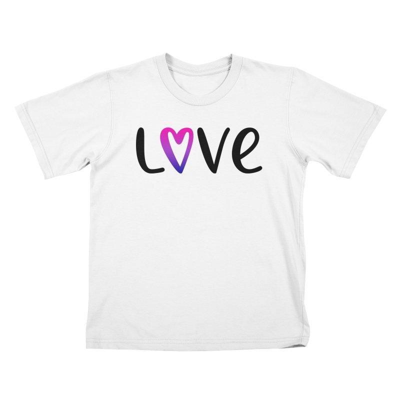 Love + Heart Kids T-Shirt by Prismheartstudio 's Artist Shop