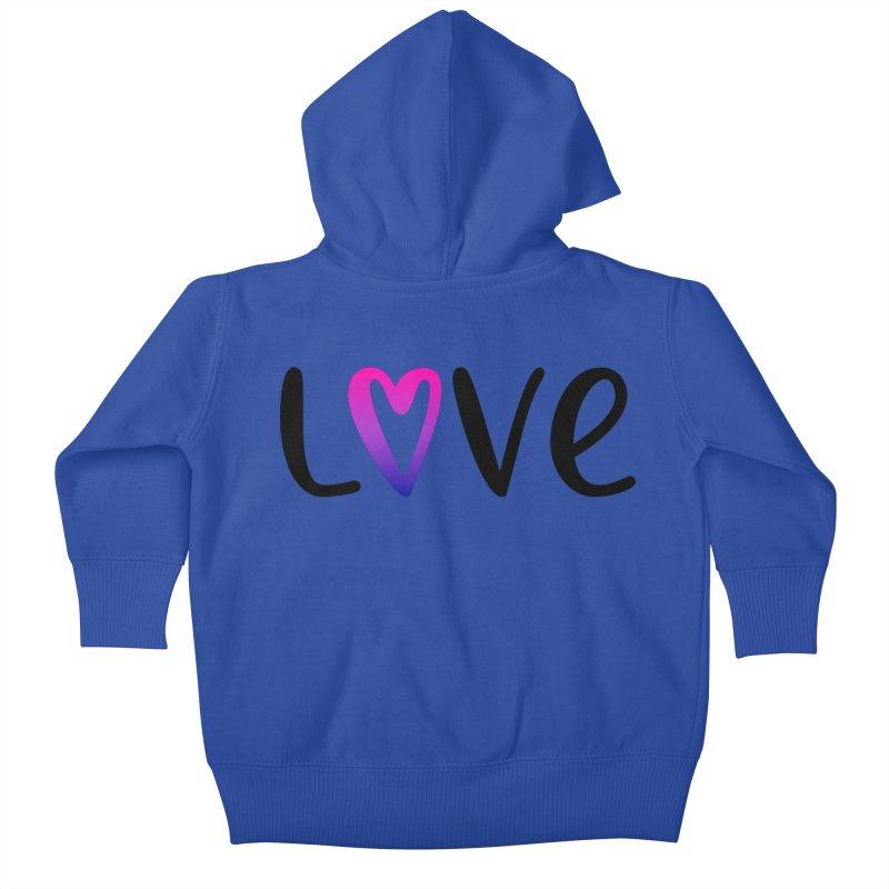 Love + Heart Kids Baby Zip-Up Hoody by Prismheartstudio 's Artist Shop