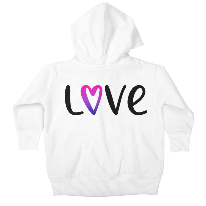 Love + Heart Kids Baby Zip-Up Hoody by Prismheartstudio 's Artist Shop