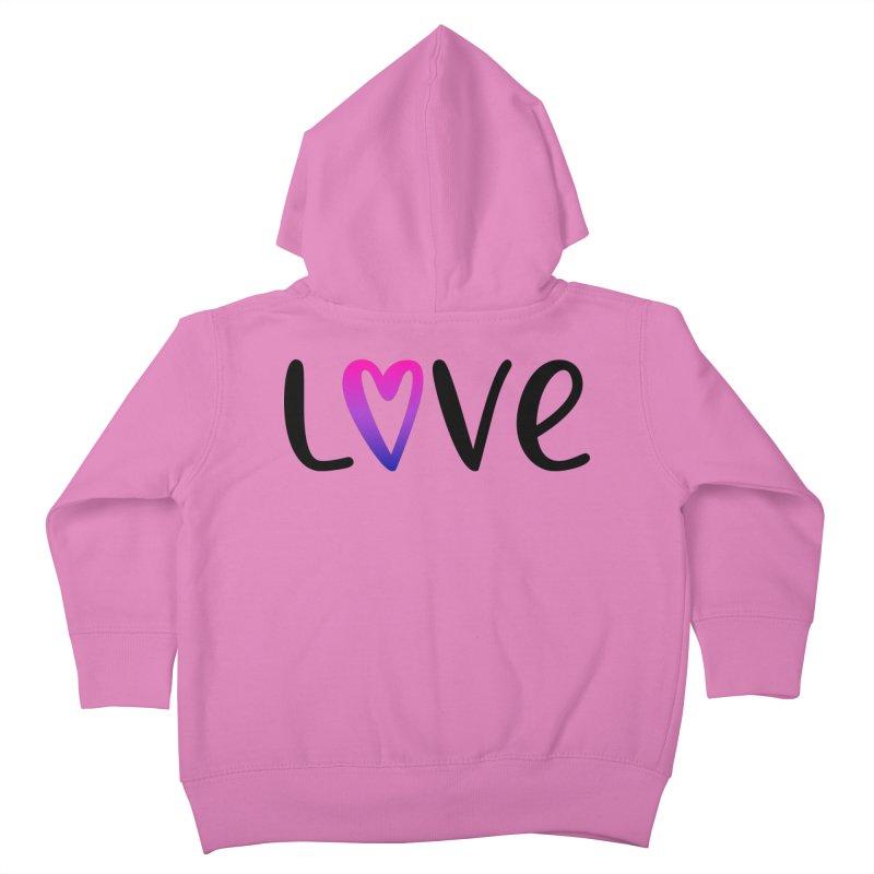 Love + Heart Kids Toddler Zip-Up Hoody by Prismheartstudio 's Artist Shop