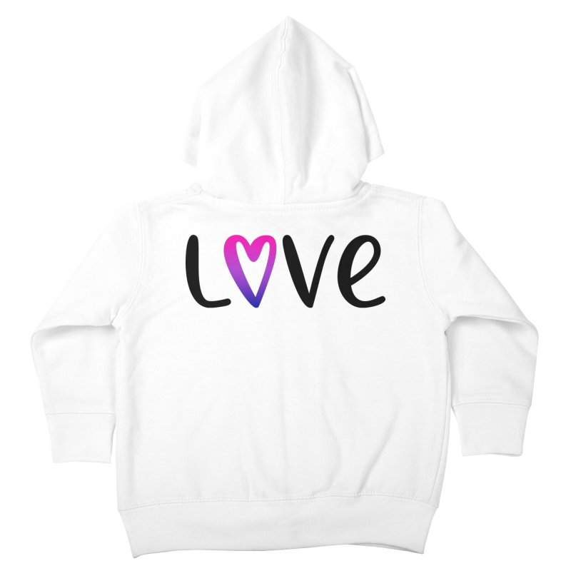 Love + Heart Kids Toddler Zip-Up Hoody by Prismheartstudio 's Artist Shop