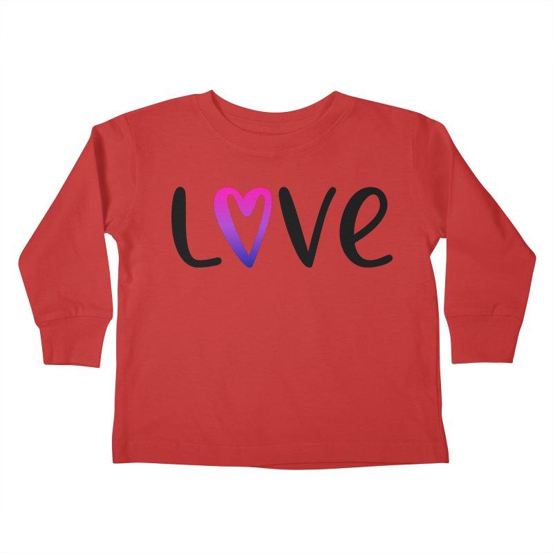 Love + Heart Kids Toddler Longsleeve T-Shirt by Prismheartstudio 's Artist Shop