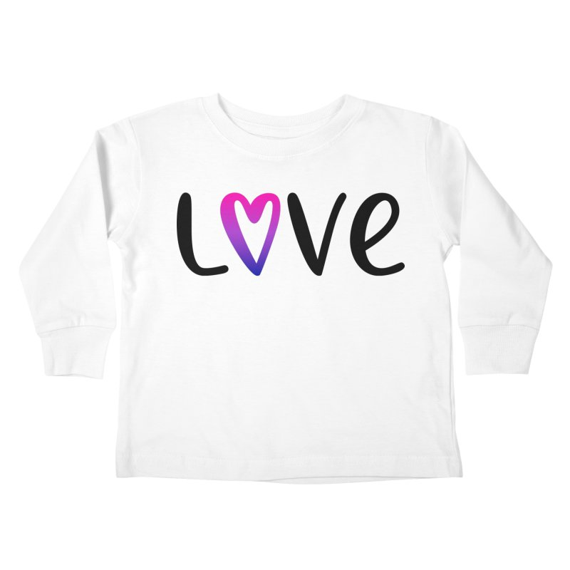 Love + Heart Kids Toddler Longsleeve T-Shirt by Prismheartstudio 's Artist Shop