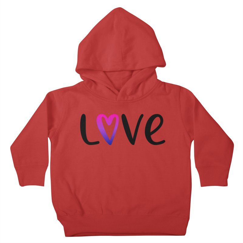 Love + Heart Kids Toddler Pullover Hoody by Prismheartstudio 's Artist Shop
