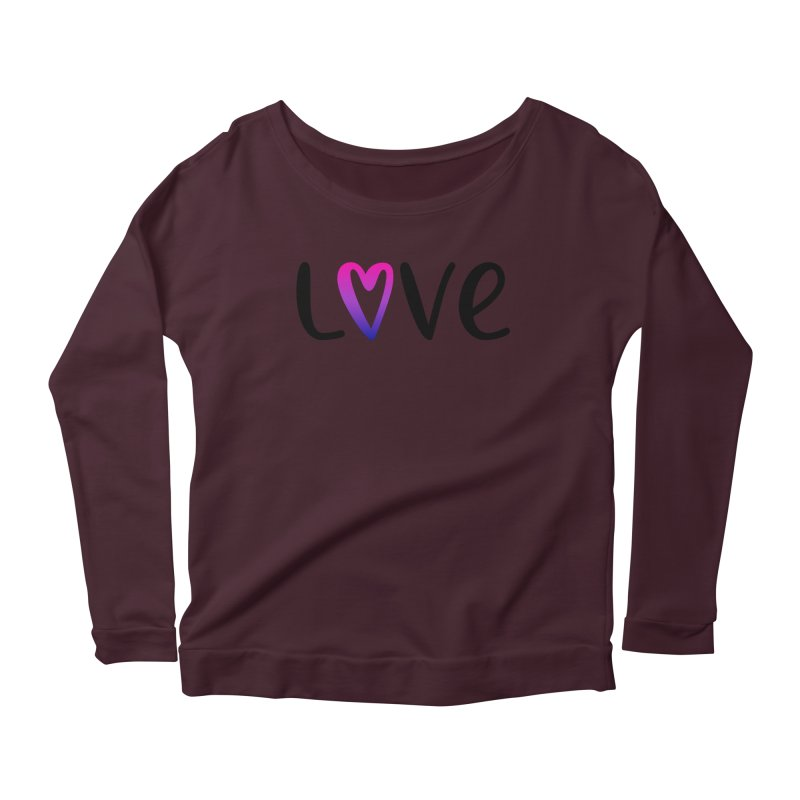 Love + Heart Women's Longsleeve T-Shirt by Prismheartstudio 's Artist Shop