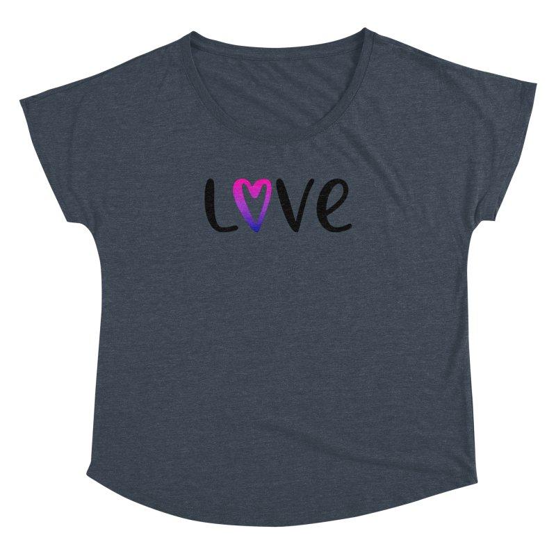 Love + Heart Women's Dolman Scoop Neck by Prismheartstudio 's Artist Shop