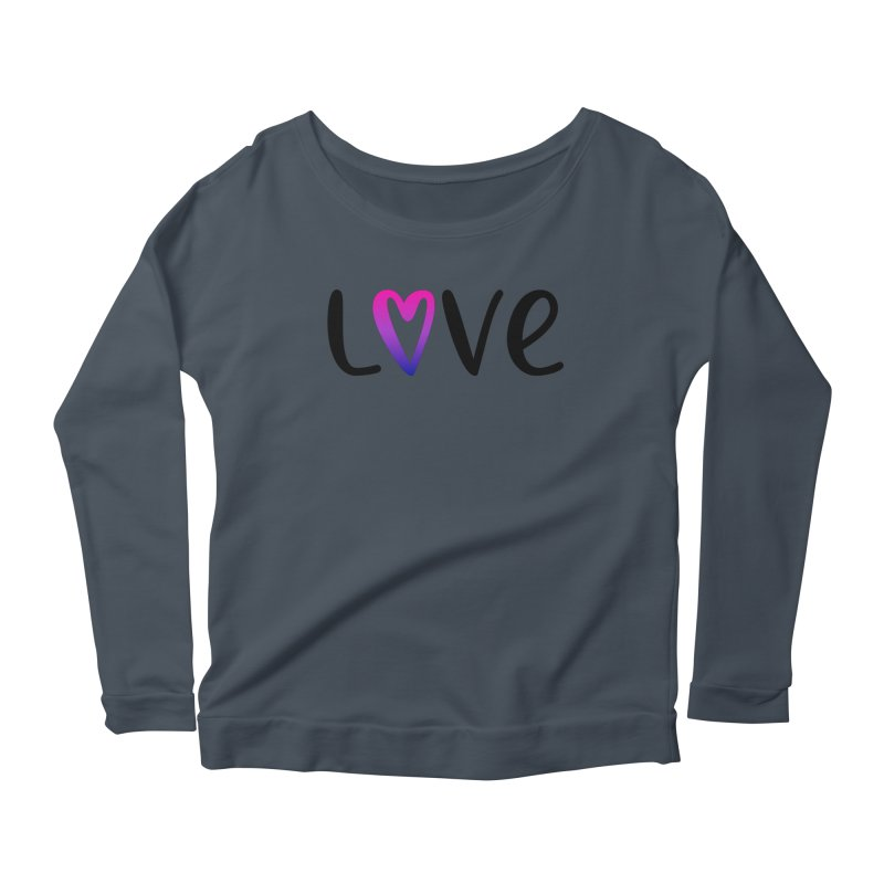 Love + Heart Women's Scoop Neck Longsleeve T-Shirt by Prismheartstudio 's Artist Shop