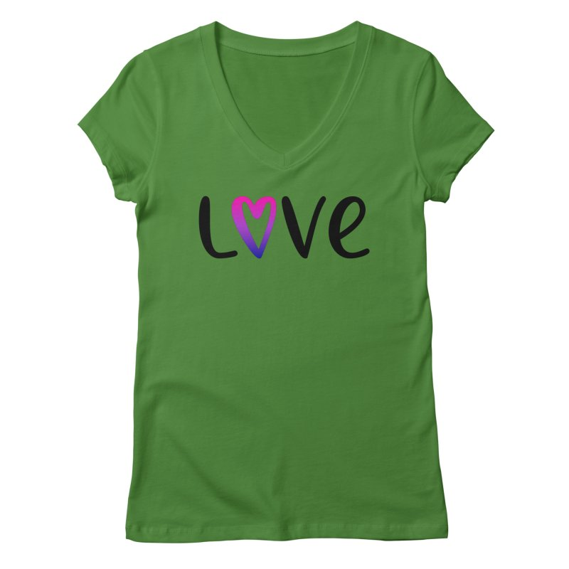 Love + Heart Women's Regular V-Neck by Prismheartstudio 's Artist Shop