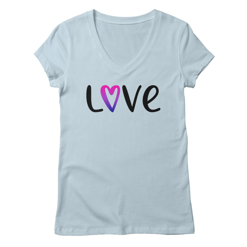 Love + Heart Women's Regular V-Neck by Prismheartstudio 's Artist Shop
