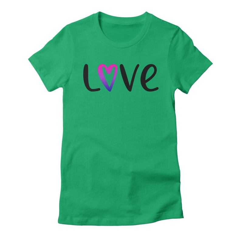 Love + Heart Women's Fitted T-Shirt by Prismheartstudio 's Artist Shop
