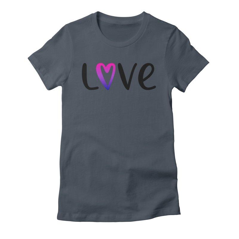 Love + Heart Women's T-Shirt by Prismheartstudio 's Artist Shop