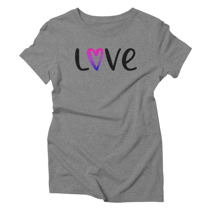Love + Heart Women's Triblend T-Shirt by Prismheartstudio 's Artist Shop