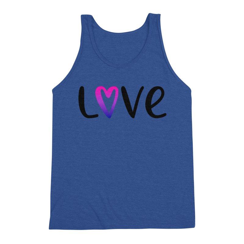 Love + Heart Men's Tank by Prismheartstudio 's Artist Shop