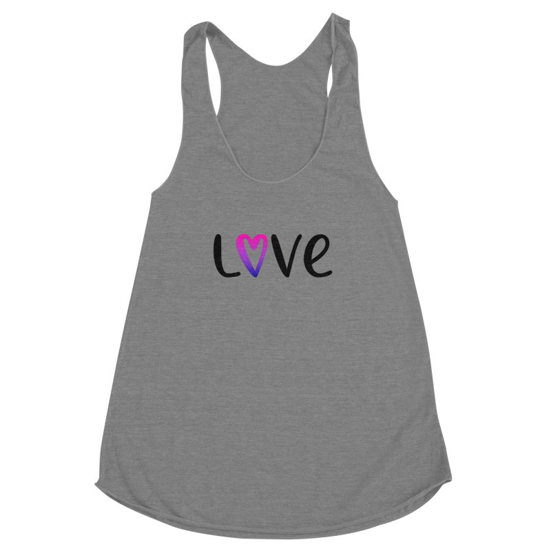 Love + Heart Women's Racerback Triblend Tank by Prismheartstudio 's Artist Shop
