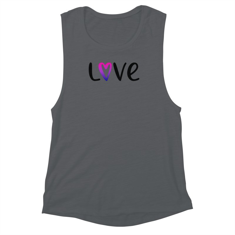 Love + Heart Women's Muscle Tank by Prismheartstudio 's Artist Shop