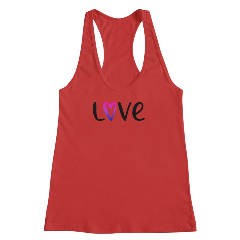 Love + Heart Women's Racerback Tank by Prismheartstudio 's Artist Shop