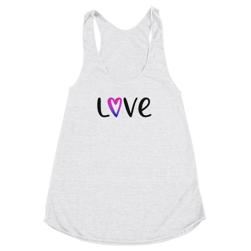 Love + Heart Women's Racerback Triblend Tank by Prismheartstudio 's Artist Shop