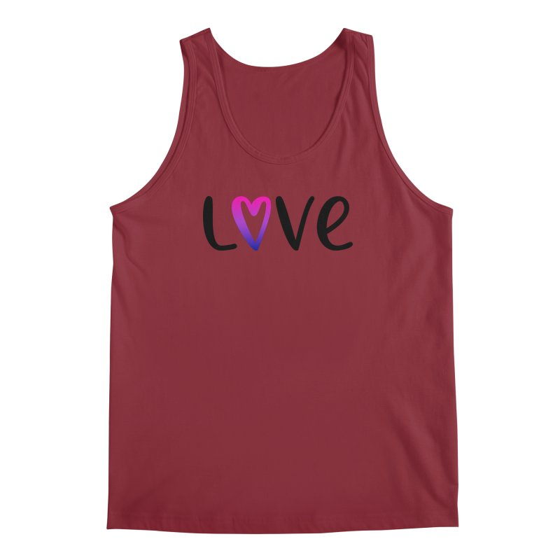 Love + Heart Men's Tank by Prismheartstudio 's Artist Shop