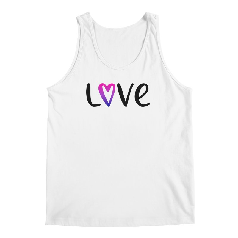 Love + Heart Men's Regular Tank by Prismheartstudio 's Artist Shop