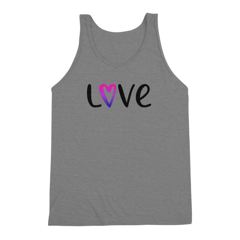 Love + Heart Men's Triblend Tank by Prismheartstudio 's Artist Shop