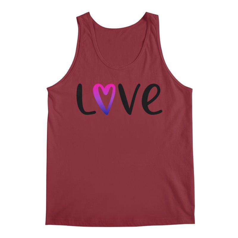 Love + Heart Men's Regular Tank by Prismheartstudio 's Artist Shop