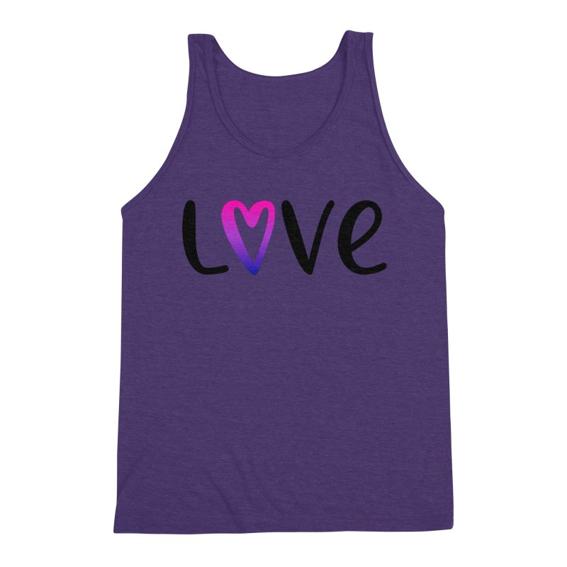 Love + Heart Men's Triblend Tank by Prismheartstudio 's Artist Shop