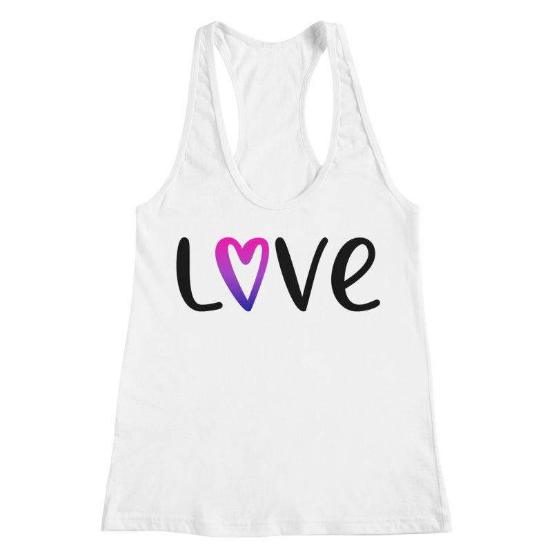 Love + Heart Women's Racerback Tank by Prismheartstudio 's Artist Shop