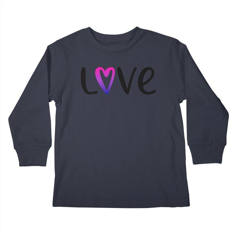 Love + Heart Kids Longsleeve T-Shirt by Prismheartstudio 's Artist Shop