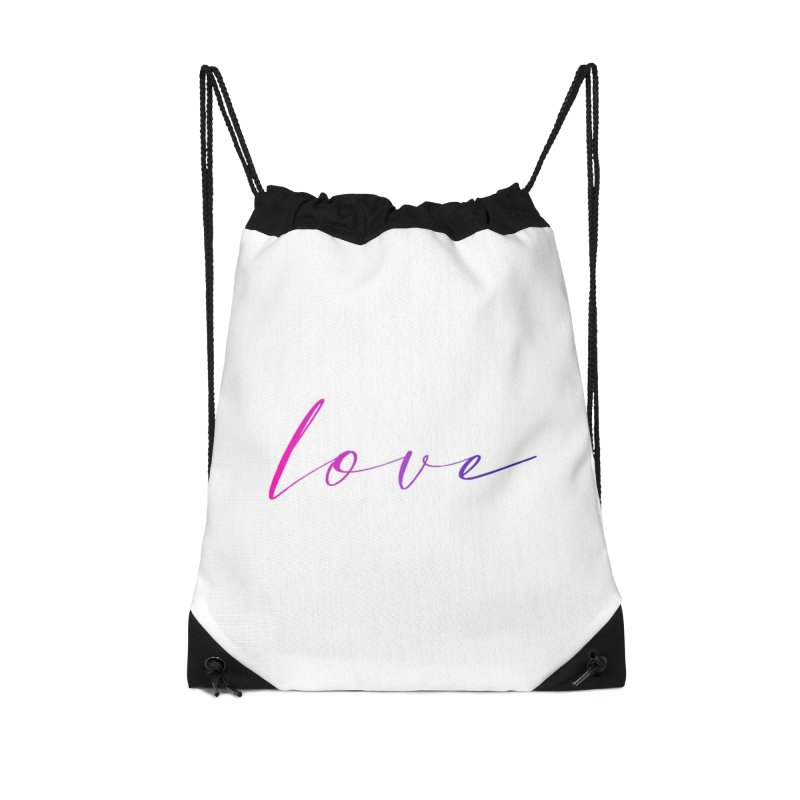 Scripted Love Accessories Drawstring Bag Bag by Prismheartstudio 's Artist Shop