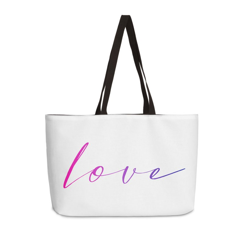 Scripted Love Accessories Weekender Bag Bag by Prismheartstudio 's Artist Shop